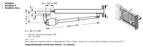 Привод для распашных ворот RotaMatic 2