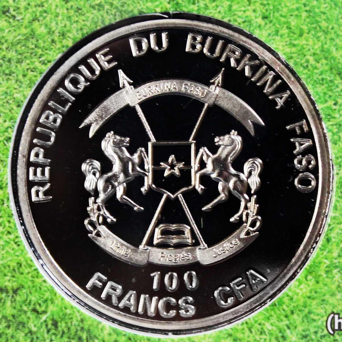 100 франков КФА (2017 г.) Burkina Faso