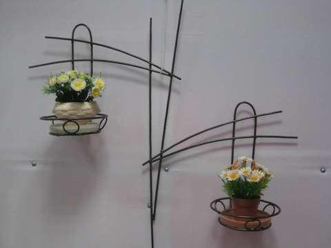 Подставка под цветы настенная двойная узорная