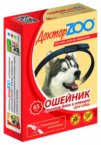 Доктор Зоо ошейник для собак 65 см.
