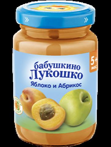 Пюре из яблок  и абрикосов Бабушкино Лукошко 190 г. (5+ мес.)