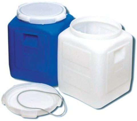 Бидон АГР пластиковый квадратный синий