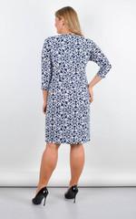 Луїза. Стильна сукня великих розмірів. Квіти.