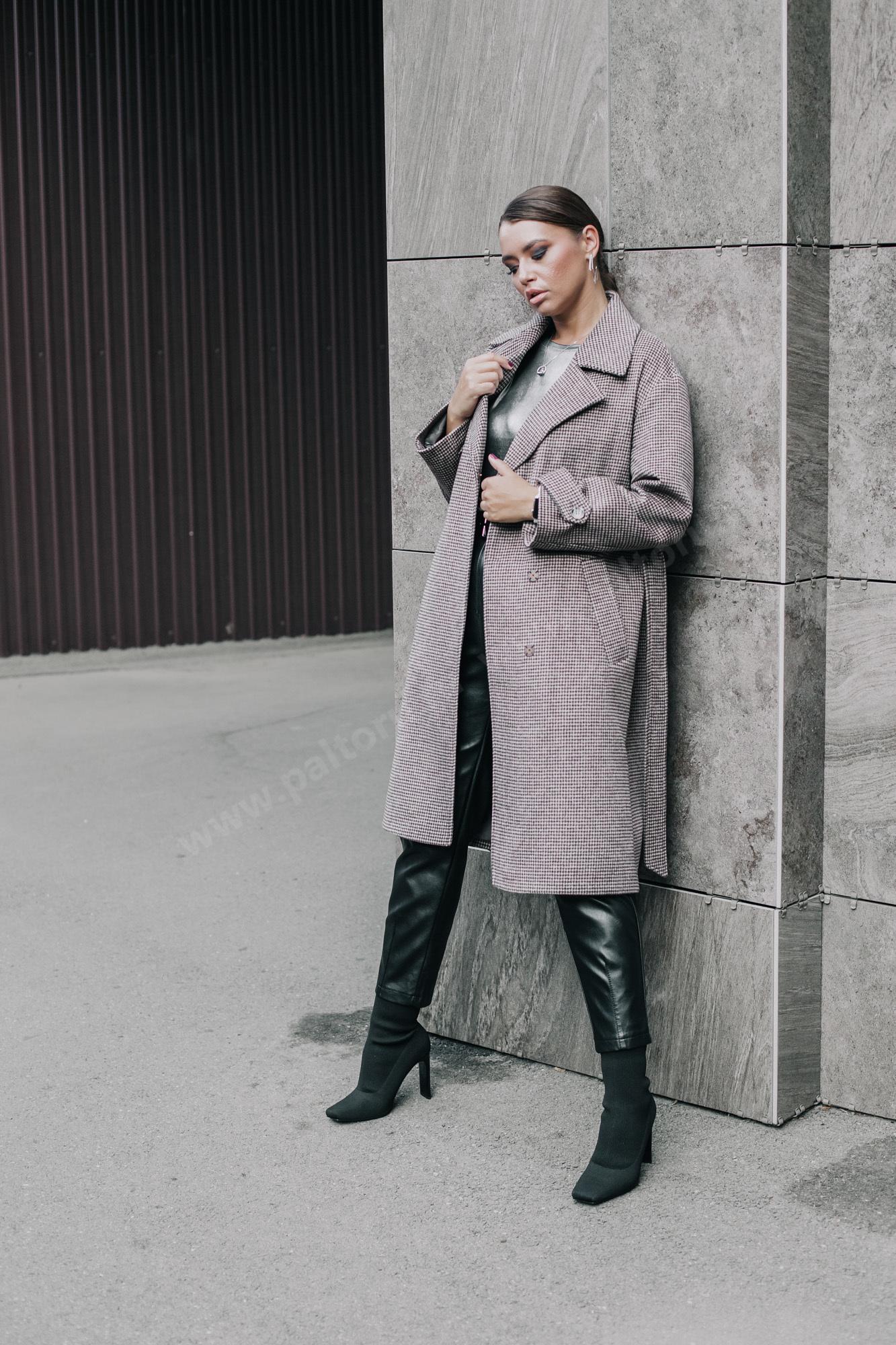 Пальто женское dogtooth