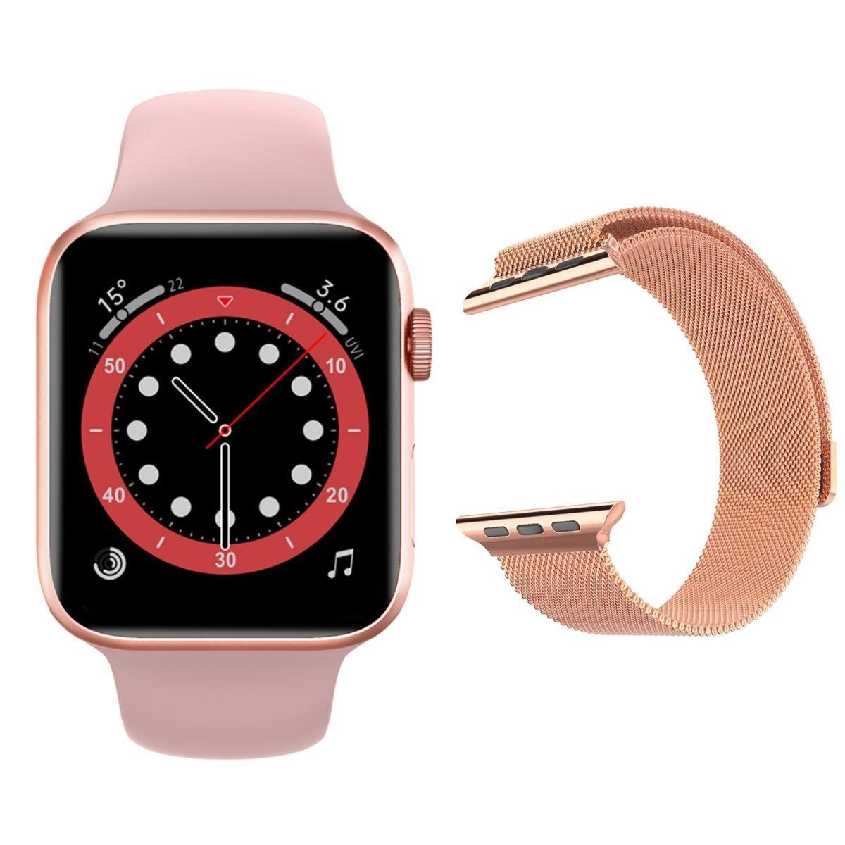 Смарт часы и браслеты Часы Smart Watch IWO 13 Lite (розовые) с Миланским браслетом Milanese_loop_IWO13L.jpg