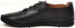 Чёрные мокасины кроссовки для города женские деловой кэжуал EVA collection 151 Black.