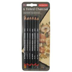 Набор из 6 угольных карандашей Derwent Tinted Charcoal