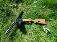 PPSh-41 wood life size