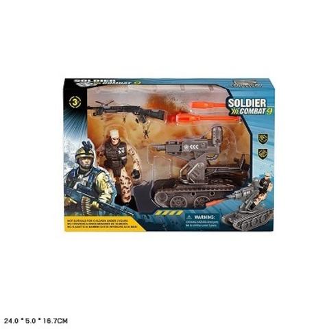Набор военный с солдатом и техникой (в коробке), 81-42Д