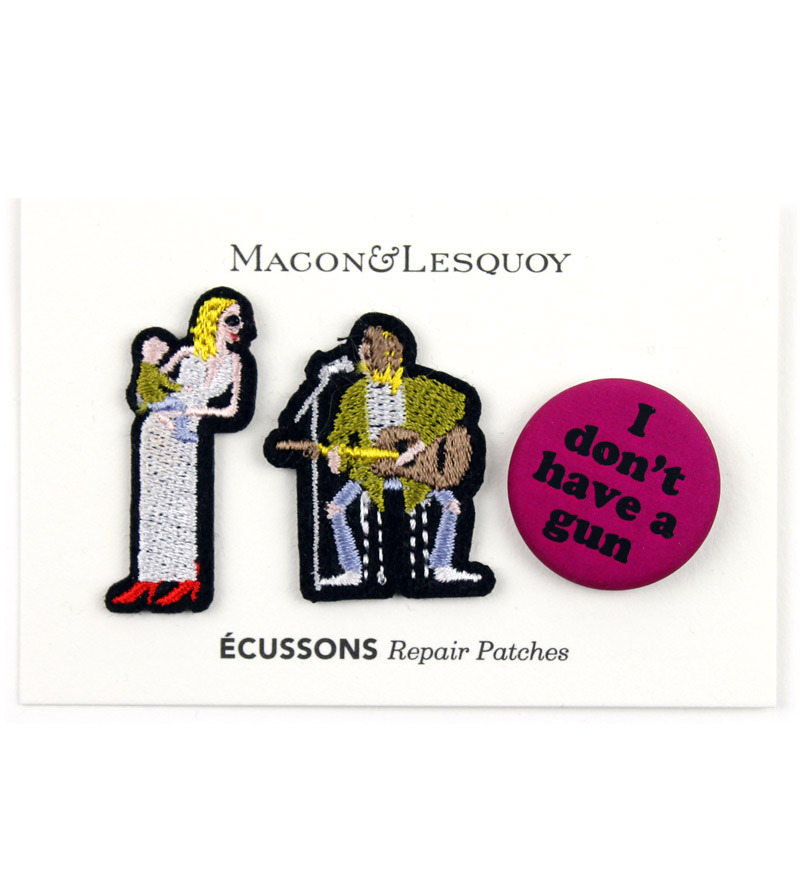 Набор патчей-заплаток Courtney&Kurt от Macon&Lesquoy