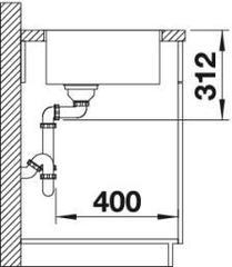 Мойка Blanco Subline 500-IF - схема
