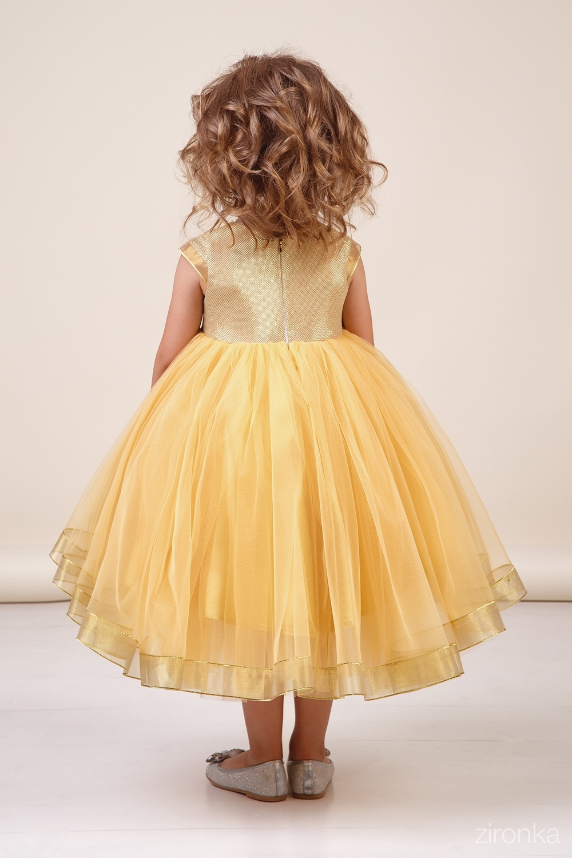 Платье золотистое для девочки 38-8033-1