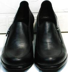 Женские кожаные туфли без шнурков осень весна H&G BEM 107 03L-Black.