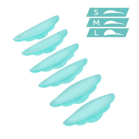 Валики силиконовые ULTRA SOFT (S, M, L) - 3 пары