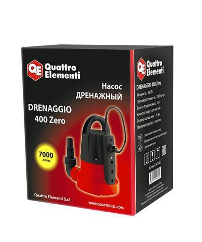 Дренажный насос QUATTRO ELEMENTI Drenaggio  400 Zero (400 Вт, 7000 л/час, 7 м, ) (241-802)
