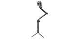 Монопод-штатив GoPro 3-Way Mount - Grip/Arm/Tripod (AFAEM-001) на треноге с камерой разложен