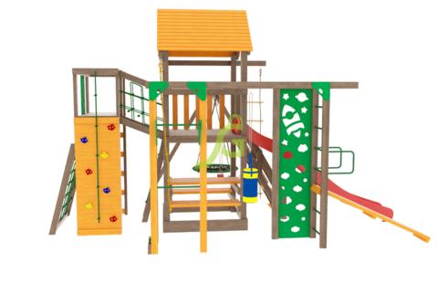 Детская площадка Спорт 2 с качелями гнездо 100см