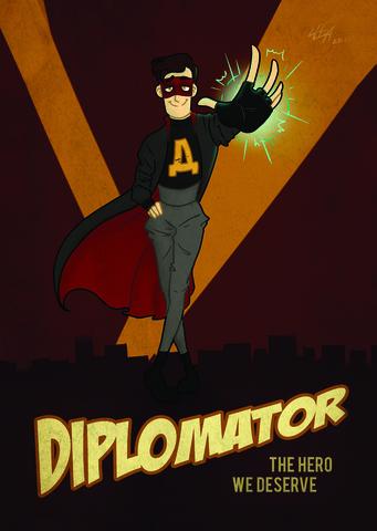 Дух моей общаги: Дипломатор  (открытка)