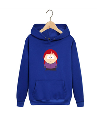 Толстовка синяя с капюшоном (худи, кенгуру) и принтом Южный парк (South Park) 001