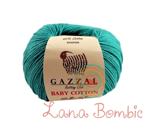 Пряжа Gazzal Baby Cotton 3426 изумруд