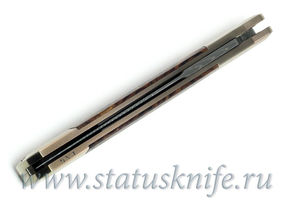 Нож Pro-tech Godfather Ultimate Custom Knife Titanium / Desert Ironwood - фотография