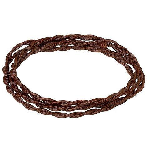 Кабель плетеный термостойкий сечение 2*1.5. Цвет Шоколад. Salvador. CHO/L 2*1.5