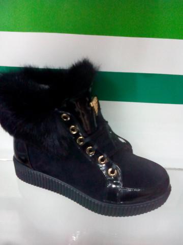 Ботинки кеды зимние с мехом женские El Passo 40- й размер