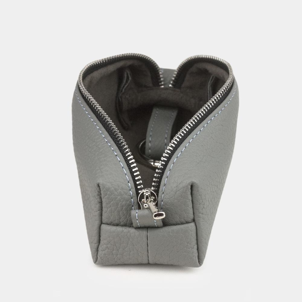 Ключница Cofre Easy из натуральной кожи теленка, стального цвета
