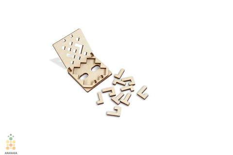 Головоломка Змейка от Wooden City - настольная игра - деревянный конструктор, сборная модель, 3D пазл