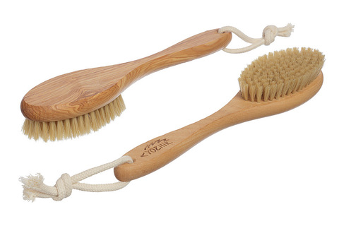 YOZHIK Щётка для сухого массажа (класс М, натуральная щетина)