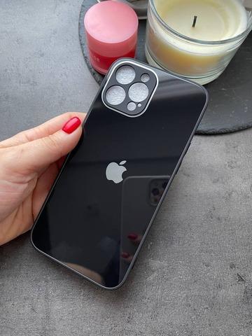 Чехол iPhone 12 Pro Max /6,7''/ Glass Pastel Full Camera /black/