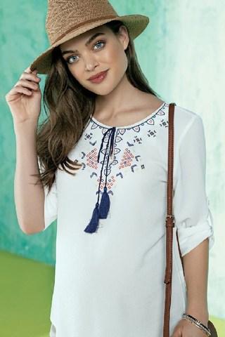 Блузка для беременных 07765 белый