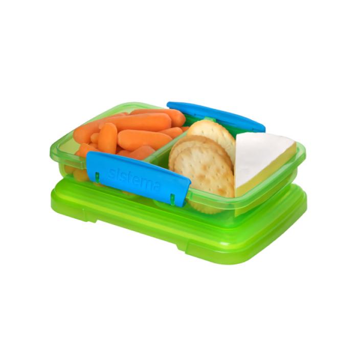 """Контейнер Sistema """"Lunch"""", двойной, 350 мл, цвет Зеленый"""