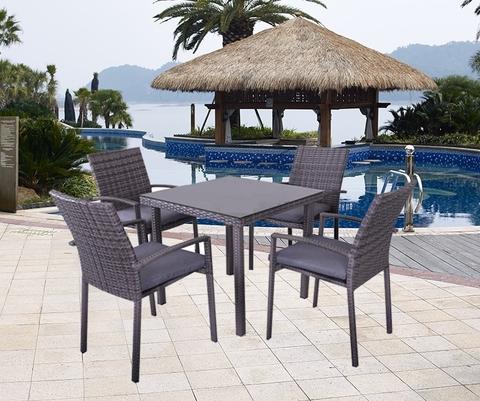 Комплект обеденный (стол и 4 кресла), 210195