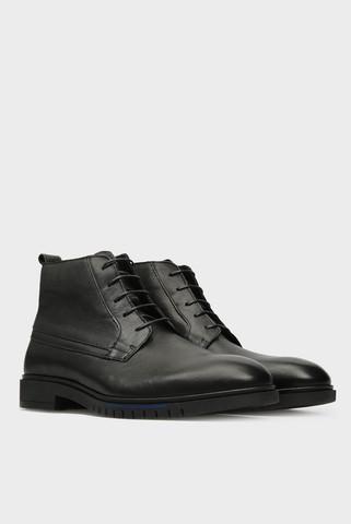 Мужские черные кожаные ботинки Tommy Hilfiger