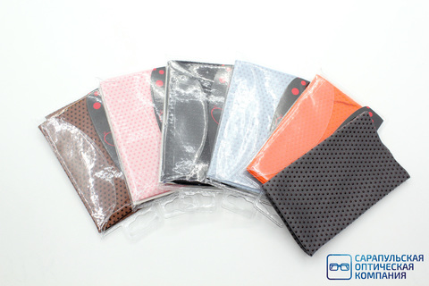 Салфетка из микрофибры для протирания очков в индивидуальной упаковке