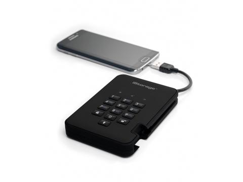 Защищенный внешний диск с пин-кодом DiskAshur2 1Tb