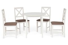Обеденный комплект эконом Ватсон (стол + 4 стула)/ Watson Dining Set — Espresso