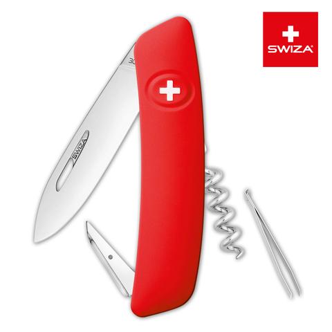 Швейцарский нож Swiza  (KNI.0010.1000) D01 Standard 95 мм 6 функций красный