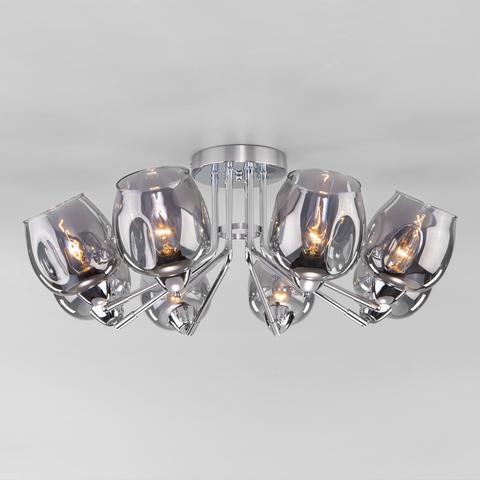 Потолочная люстра со стеклянными плафонами 30164/8 хром