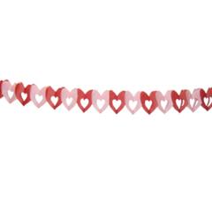 Q Бум укр Гирлянда Сердечки 6х6см 4м розово-малиновая MG016