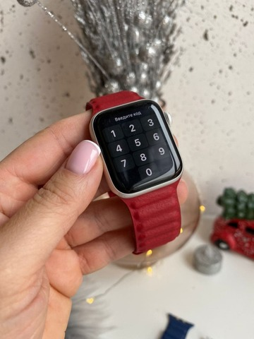 Ремешок Apple watch 42mm Leather Link /red/