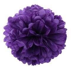 Помпон из бумаги, 40 см, фиолетовый