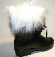 Осенняя обувь - женские резиновые сапоги BLM - Black/
