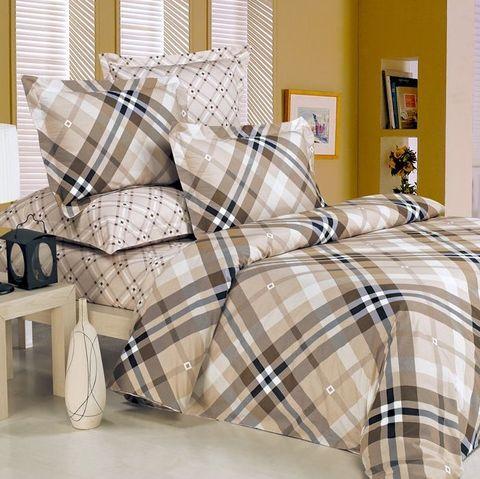 Сатиновое постельное бельё  1,5 спальное Сайлид  В-58