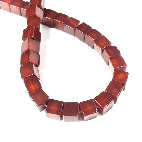 Бусина сердолик Куб 8х8 мм 1 бусина