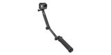 Монопод-штатив GoPro 3-Way Mount - Grip/Arm/Tripod (AFAEM-001) разложен с камерой