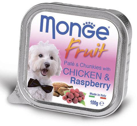 Monge Dog Fruit консервы для собак курица с малиной 100г