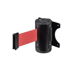 Столбик ограждения TEH_Настенный блок окрашенный с вытяж.лентой 3м красный