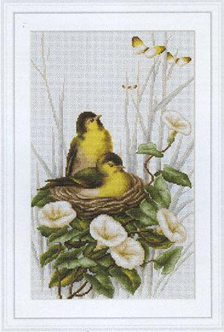 ТематикаЖивотный мир: Птицы¶Техникасчетный крест¶Размер20 х3 1,5см,¶Составканва Aida 18 Zweigart